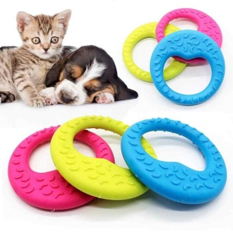 1 Pcs Dog Toy Moon Ring Shape Non Toxic Soft Rubber Chew ToysRandom Colors - intl