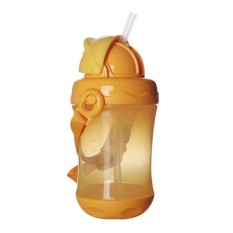 1 Pcs Penguin Shape Water Bottle With Straw Baby Bottle 4 Color Leak-proof – intl