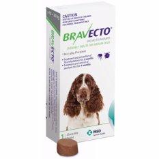 Thuốc phòng trị ghẻ, rận tai, ve, bọ chét và viêm da dị ứng: 1 viên BRAVECTO medium (chó 10-20 kg)