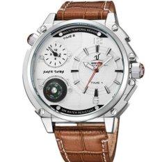 [100% Genuine]WEIDE 1507 Men Watches Top Brand Luxury Men Military Wrist Watches Leather Men Sports Casual Watch Waterproof