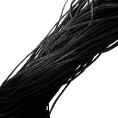10M Black Waxed Cotton Rope String Jewelry Bracelet Making 2mm – intl