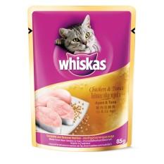 12 gói thức ăn cho mèo lớn vị gà và cá ngừ – whiskas chicken &tuna 85gr