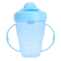 Bảng Báo Giá 180ml Newborn baby drink water bottles baby training cups(Blue) – intl   welcomehome