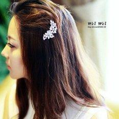 So Sánh Giá 1pcs New Fashion cute Flower Rhinestone Clip Comb Hairpin Barrette – INTL  comebuy88