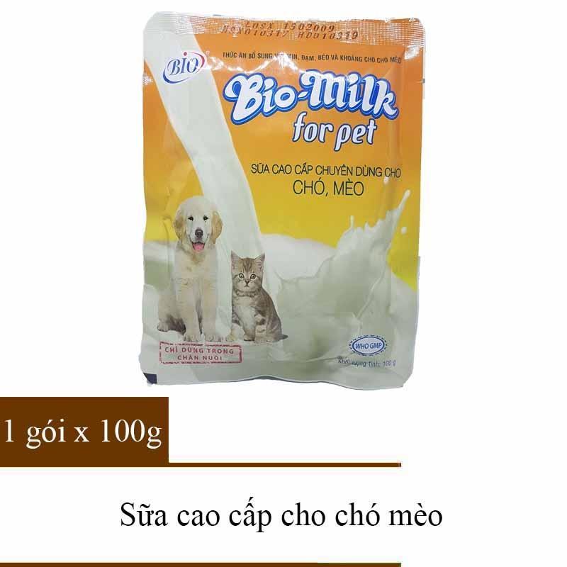 Sữa Cho Chó Mèo – Sữa cho thú cưng – Bio Milk 1 gói