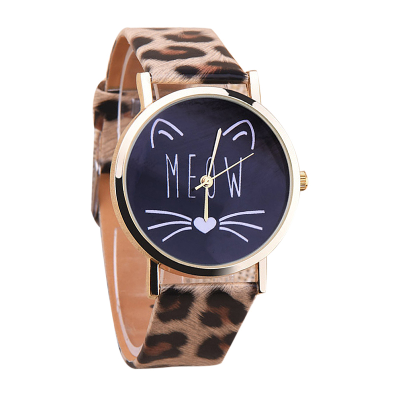 2016 tudent Caua Cat Gir Boy Quartz Cartoon Writwatch (eopard) bán chạy