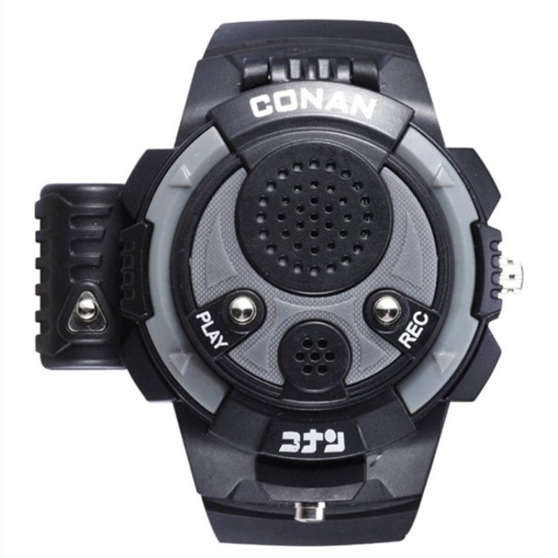 3.0 Detective Conan Boys' Laser Shell Bounce Voice Recording Anime Multifunctional Watches(Color:Black&Grey) bán chạy