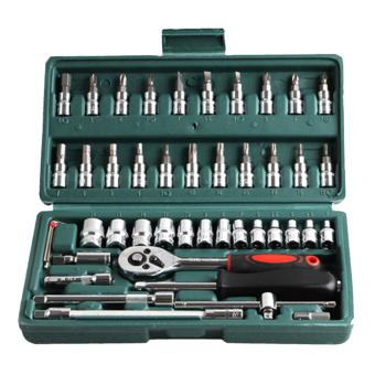 46pcs Spanner Socket Set 1/4 Repair Tool - intl - 8816268 , VA466OTAA2XJJLVNAMZ-5071813 , 224_VA466OTAA2XJJLVNAMZ-5071813 , 786000 , 46pcs-Spanner-Socket-Set-1-4-Repair-Tool-intl-224_VA466OTAA2XJJLVNAMZ-5071813 , lazada.vn , 46pcs Spanner Socket Set 1/4 Repair Tool - intl
