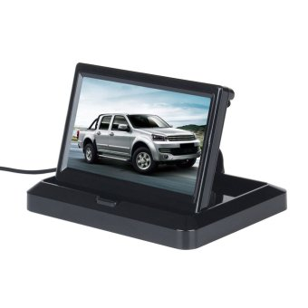 5 Inch TFT LCD Folable Car Rearview Monitor for Backup Camera DVD