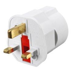 5PCS European 2 Pin to UK 3 Pin Plug Adaptor Euro EU Schuko Travel Mains Adapter UK – intl