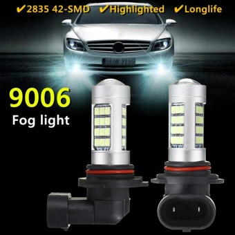 9006 42 SMD 100W Samsung 2323 LED 8000K Ice Blue rojector Fog Light Bulbs - intl