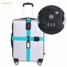 Có thể điều chỉnh Dây Quai Túi TSA Chấp Thuận Khóa Dây Đai Vali Nylon Chắc Chắn Du Lịch Đóng Gói Đai Vali An Ninh Mới Dây Đóng Gói Dây- -đỏ-quốc tế