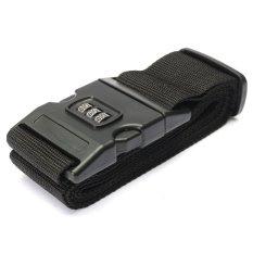 Adjustable Luggage Suitcase Straps Travel Baggage Packing Buckle Tie Belt Lock Black – intl