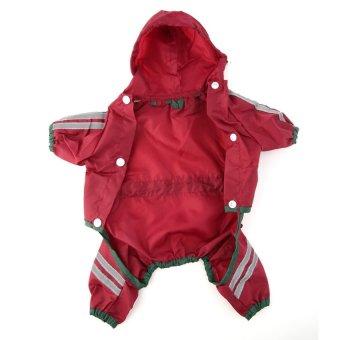 Allwin Young Doggie Pets Raincoat Waterproof Shine Shirts ClothingRain Jackets Red - intl