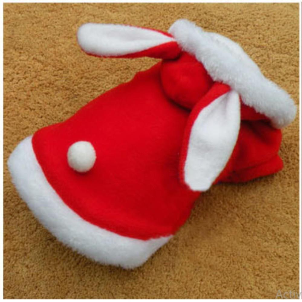 áo chó mèo cao cấp kiểu áo khoác bông tai thỏ đỏ size l ( dành cho chó mèo 3...