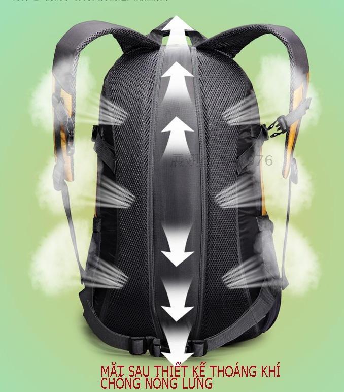 Hình ảnh Ba lô du lịch chống nước siêu nhẹ seonhi 111 (Đen phối ghi)
