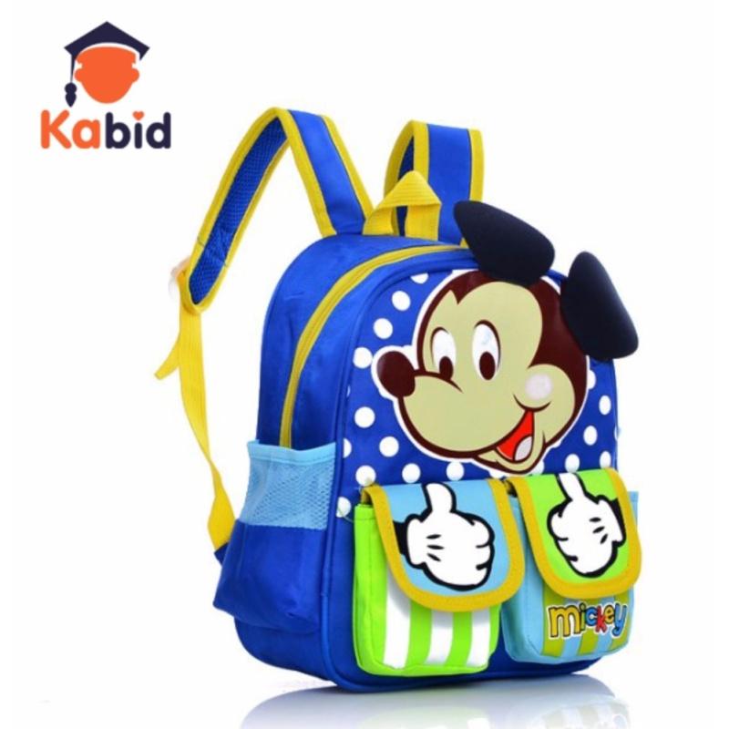 Giá bán Balo cho bé trai Kabid hình Mickey 2 túi dễ thương ( Blue)