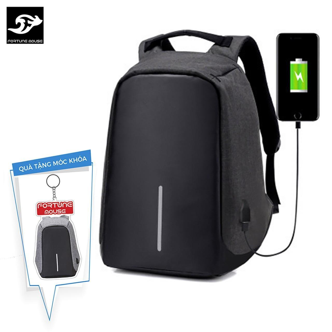So Sánh Giá Balo chống trộm, chống nước Có Cổng Sạc USB vừa laptop 16inch LOẠI DÀY 1120 ( màu đen) + Tặng 1 móc khoá hình balo