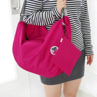 Balo du lịch gấp gọn chống thấm Carry bag (Hồng Đậm) - 5