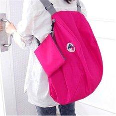 Balo du lịch gấp gọn chống thấm Carry bag (Hồng Đậm)