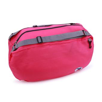 Balo du lịch gấp gọn chống thấm Carry bag (Hồng Đậm) - 2