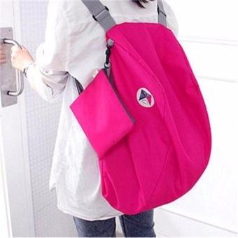 Balo du lịch gấp gọn chống thấm Carry bag - Phúc Anh (Hồng Đậm)