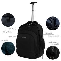 Balô kéo 2 bánh xe hành lý du lịch đựng Laptop công tác xách tay 7Kg TA502 (Màu đen)