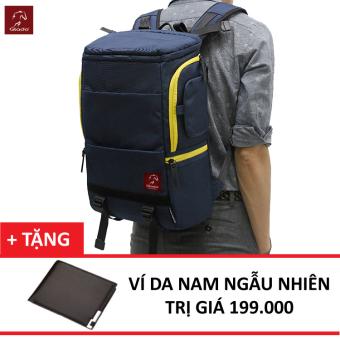 Balo Laptop Glado Cylinder GC01 (Xanh) + Tặng Ví Nam Thời Trang