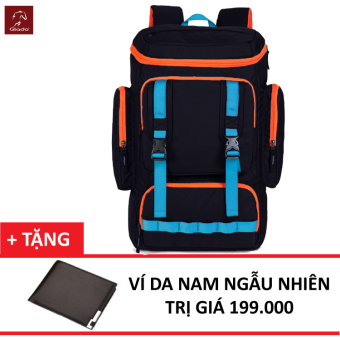 Balo Laptop Glado Cylinder GC02 (Đen) + Tặng Ví Nam Thời Trang