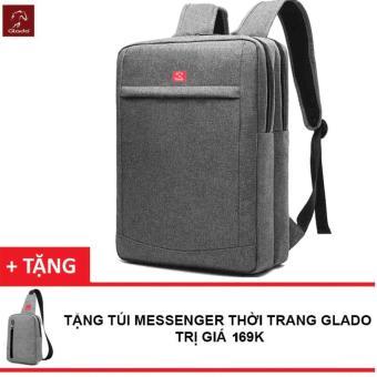 Balo Laptop Nam Zapas BLC011 (Xám) + TặNg TúI Messenger Glado DCG026