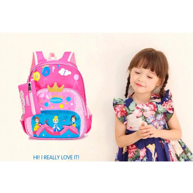 Giá bán Balo mẫu giáo cho bé gái Kabid-Công chúa Pinterest phong cách Hàn Quốc ( Hồng)
