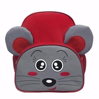 Balo mẫu giáo chuột siêu quậy Punaco - BL038 (ĐỎ)