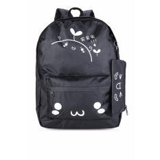 Balo thời trang tặng kèm ví đựng bút Mua Mua (đen) Gg56.