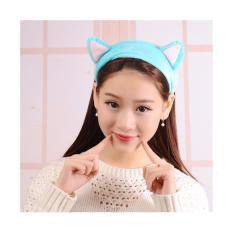 Băng đô tai mèo giữ tóc trang điểm