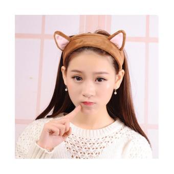Tư vấn mua Băng đô tai mèo giữ tóc trang điểm