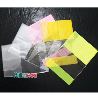 Bao nhựa passport trong 3 ngăn Viền phân biệt Màu cho Gia Đình Nhóm - Mua 3 còn 19k