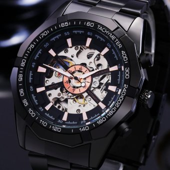 Black Mechanical Watch Men Business Watches Male High Quality Clock - intl