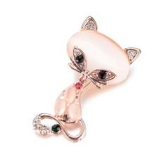 Blackhorse Cáo mắt mèo thổ cẩm boutique pha lê trâm cài boutonniere thời trang ngực khóa chân trang phục phụ kiện-quốc tế