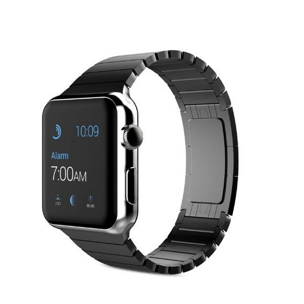Bluesky Apple Watch Band, Stainless Steel Replacement Smart Watch Band Link Bracelet with Double Button Folding Clasp for 38mm Apple Watch All Models ...