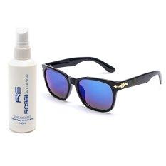 Bộ 1 kính mát nam – nữ và 1 chai nước lau kính MKH XL521 (Xanh biển)