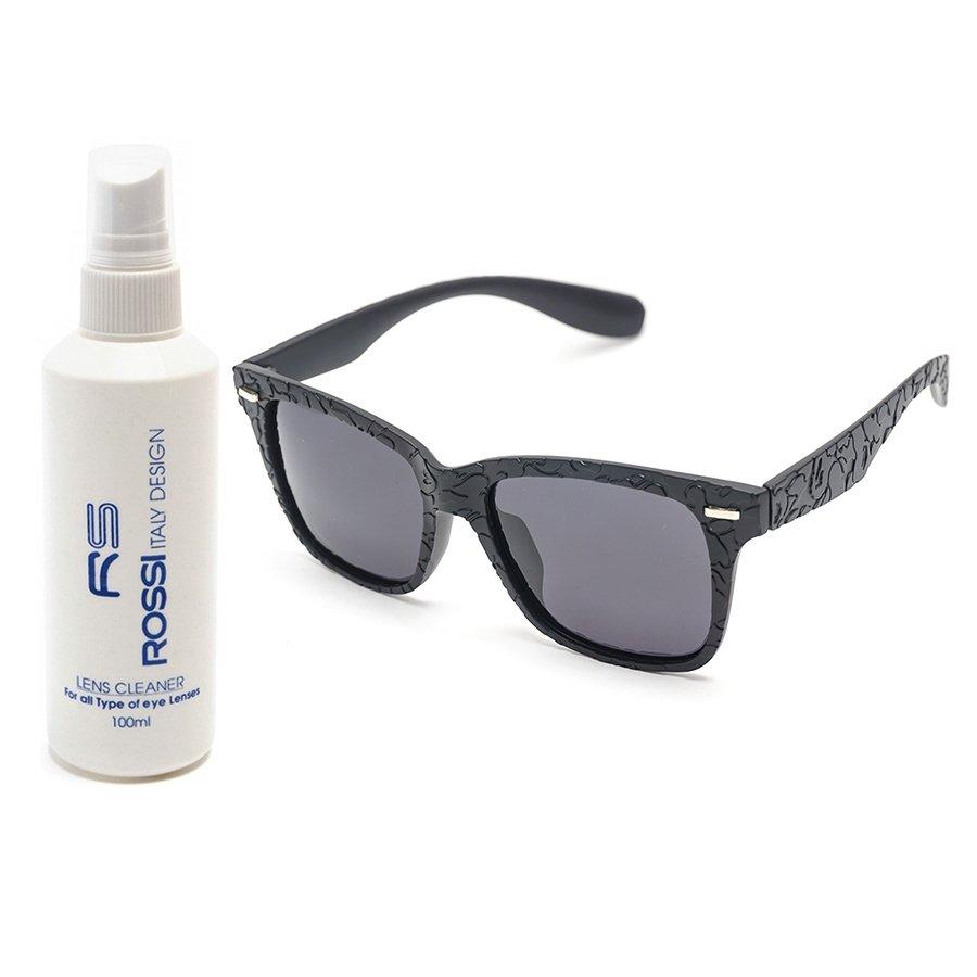 Bộ 1 kính mát nam – nữ và 1 chai nước rửa kính MKH 7807 (Đen)