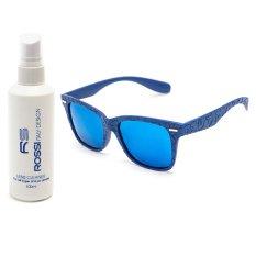 Bộ 1 kính mát nam – nữ và 1 chai nước rửa kính MKH 7807 (Xanh biển)