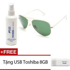 Bộ 1 kính mát nam và 1 chai nước rửa kính MKH 3026 (Xanh) + Tặng 1 USB Toshiba 8GB