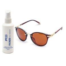 Bộ 1 kính mát nữ và 1 chai nước rửa kính PAN K7037 (Trà)