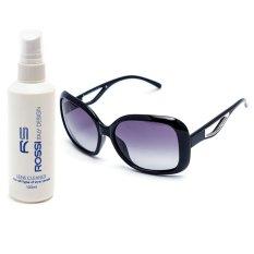 Bộ 1 kính mát nữ và 1 chai nước rửa kính PAN MM2003 (Đen)