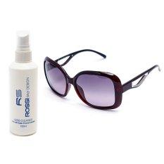 Bộ 1 kính mát nữ và 1 chai nước rửa kính PAN MM2003 (Trà)