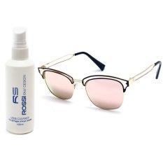 Bộ 1 kính mát nữ và 1 chai nước rửa kính PAN S746 (Hồng phấn)