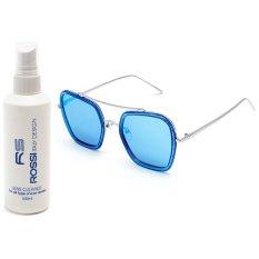 Bộ 1 kính mát nữ và 1 chai nước rửa kính PAN XL3333 (Xanh)