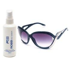 Bộ 1 Mắt kính nữ Polaroid và 1 chai nước lau kinh PAN 4103 (Đen)