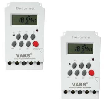 Bộ 2 Công tắc hẹn giờ kỹ thuật số 17 chương trình VAKS KG316T-II